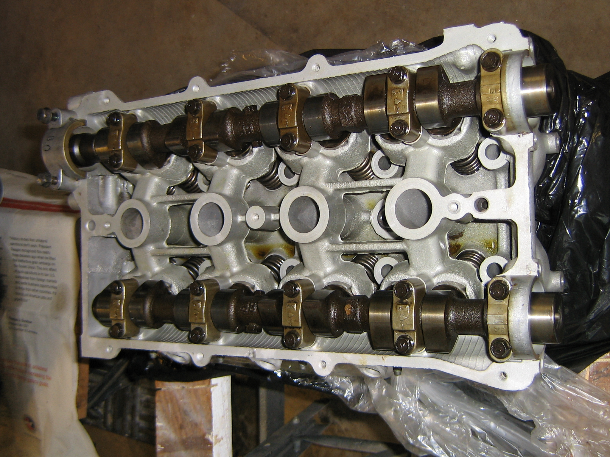 Moving Components onto the Rebuilt Cylinder Head for the 1996 Miata
